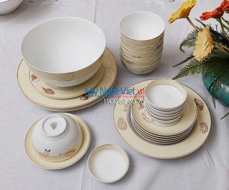 Bộ bàn ăn – Camellia – Hương biển Kem Chỉ Vàng - MNV -  25089
