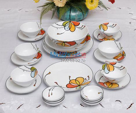 Bộ bàn ăn – Daisy – Bóng bay (6 người) - MNV-24312