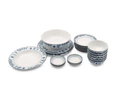 Bộ chén dĩa bàn ăn 6 người 24 sp tứ quý - MNV - 24133