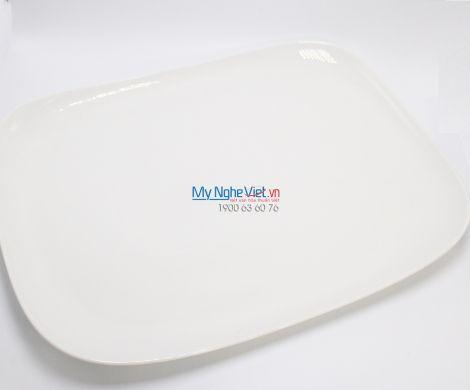 Dĩa chữ nhật 27x18 cm trắng ngà - MNV - 432717000