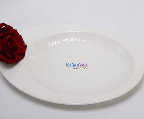 Dĩa oval một ngăn 26 cm trắng ngà - MNV - 572645000