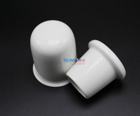 Hủ tăm 8 cm + nắp trắng ngà - MNV - 160806000