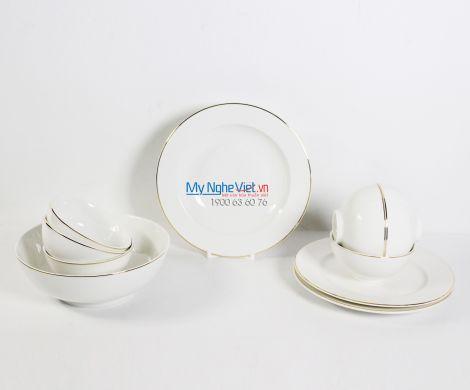 Bộ bàn ăn – Jasmine – Chỉ vàng - MNV-471028014