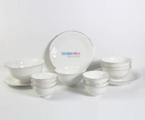 Bộ bàn ăn – Sen – Chỉ bạch kim - MNV-351428043