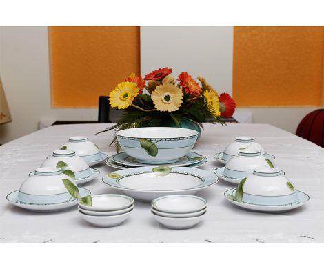 Bộ chén dĩa bàn ăn 6 người 24 sản phẩm Tích Tuyết - MNV - 24314