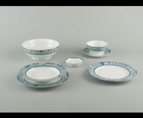 Bộ chén dĩa bàn ăn 6 người ăn Vinh quy nhạt JAS - MNV - 24197
