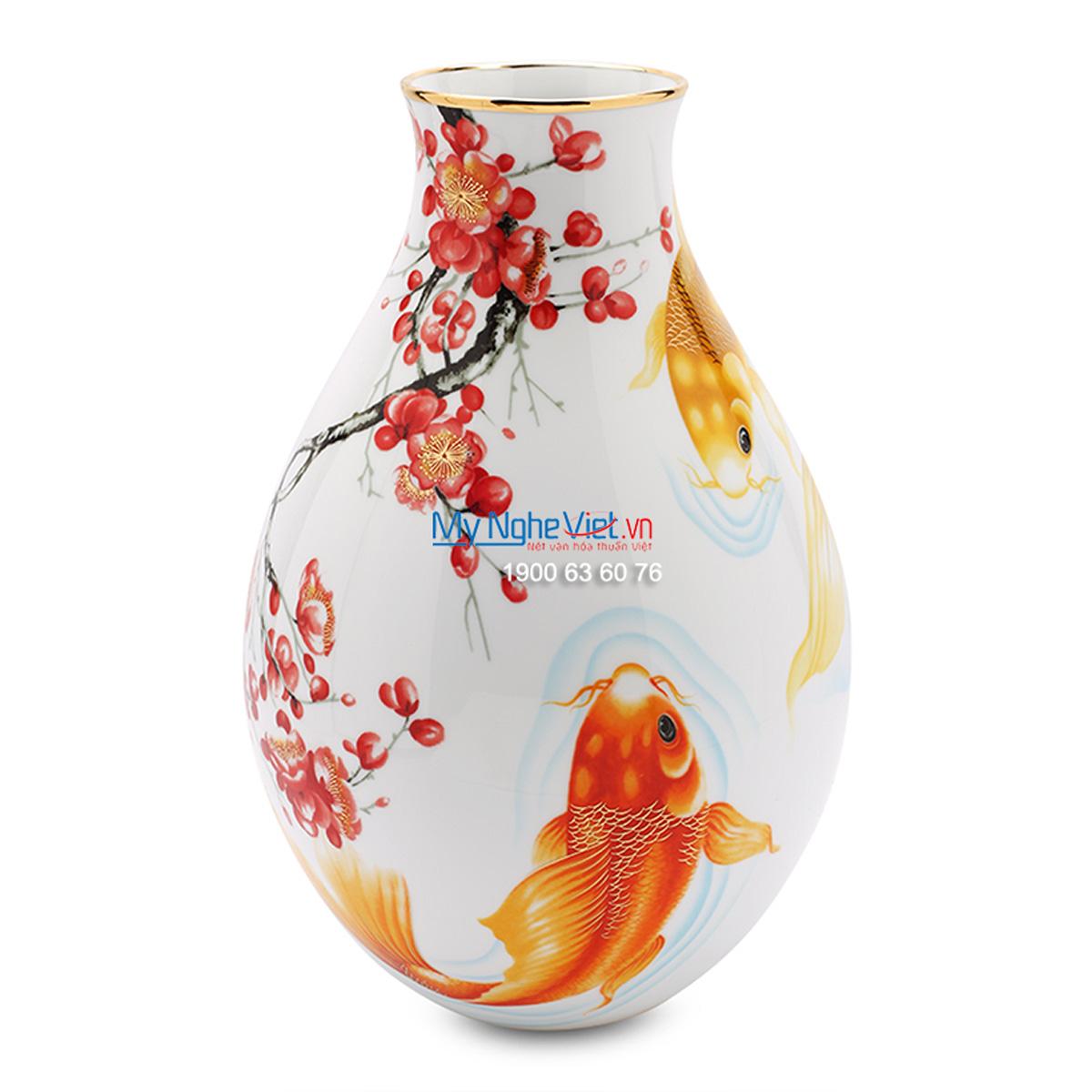 Bình hoa trang trí Cá chép 25cm - MNV502534297
