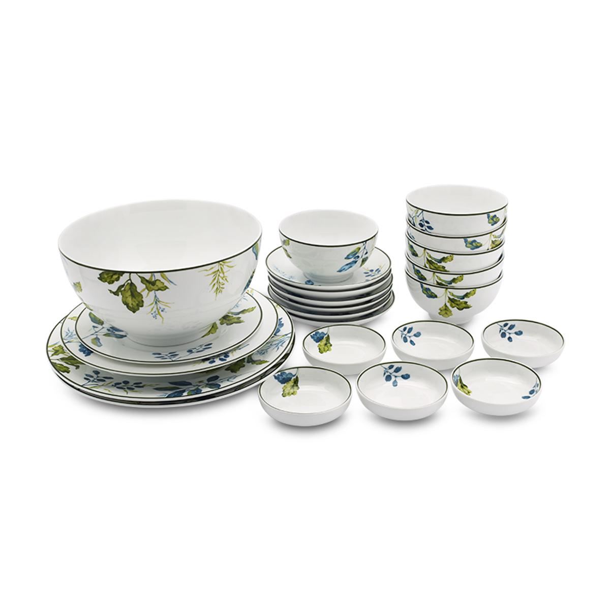 Bộ chén dĩa bàn ăn – Camellia – Lá Xanh - MNV-23193