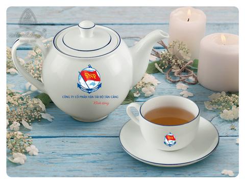 Bình trà Minh Long in Logo