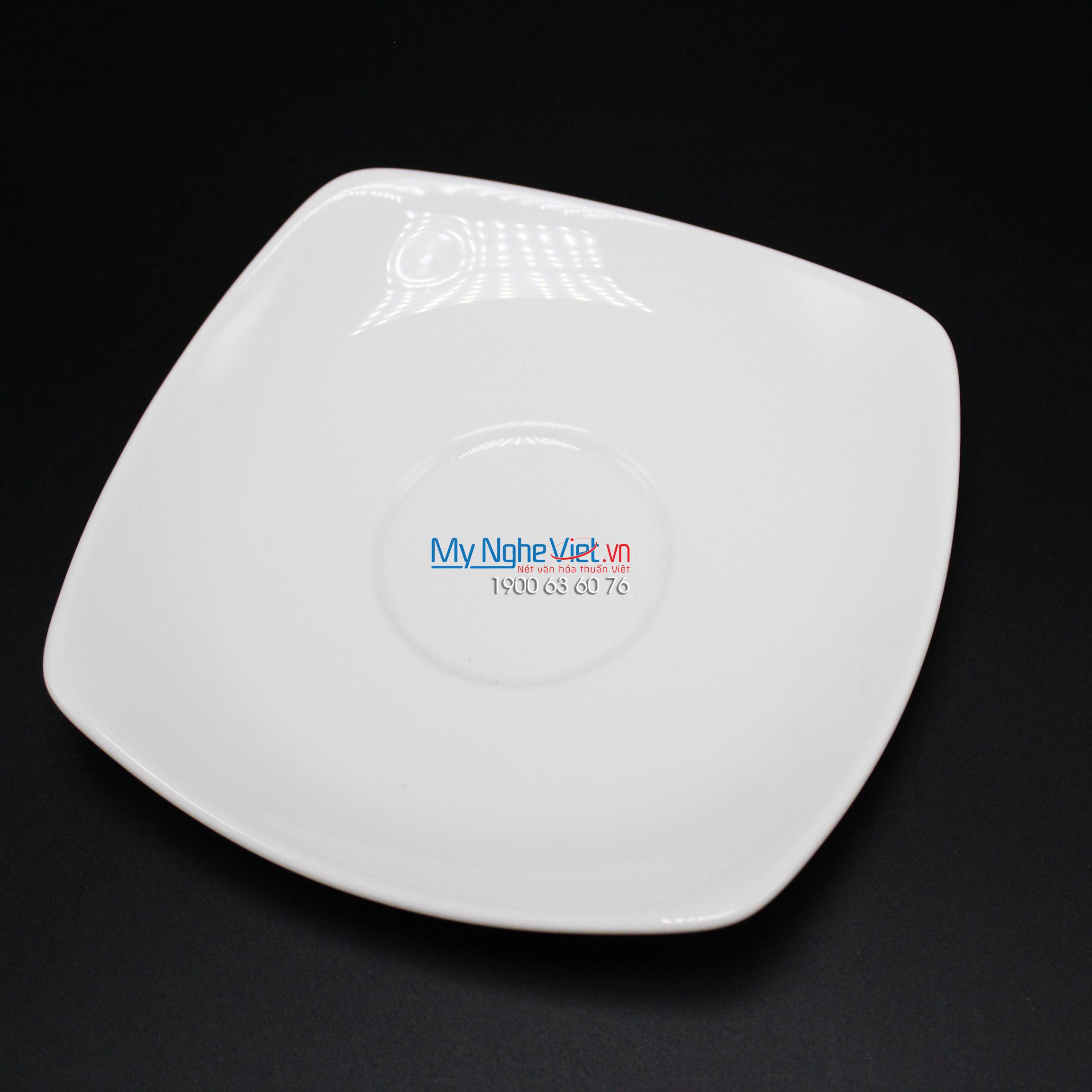 Dĩa lót chén vuông 15.5 cm trắng ngà - MNV - 411506000