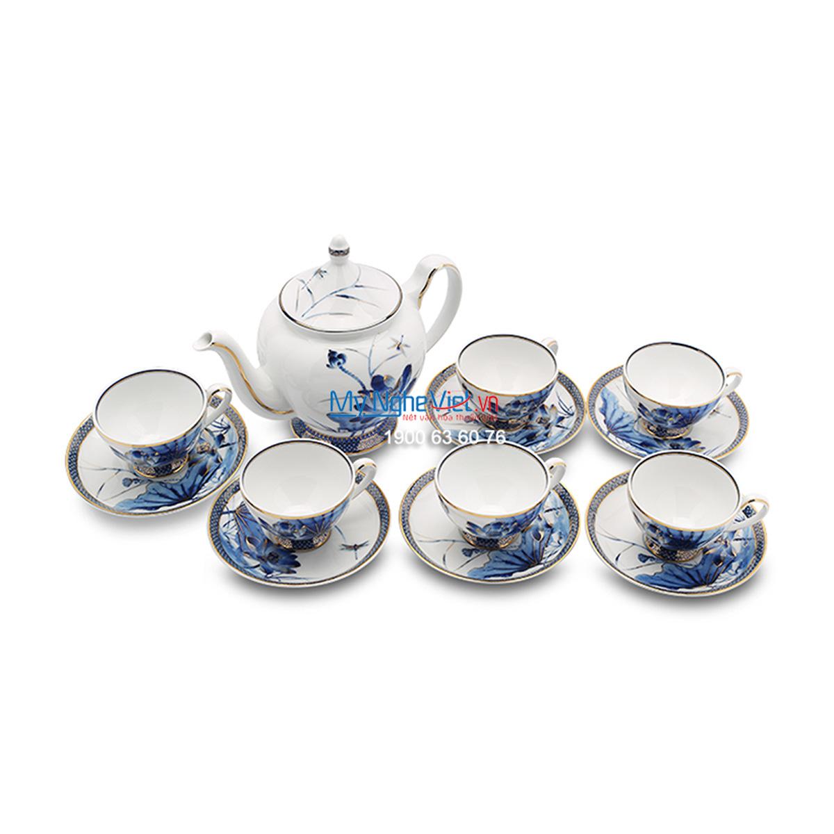 Bộ trà 1.3L – Hoàng cung – Sen Vàng - MNV-HC01134034503