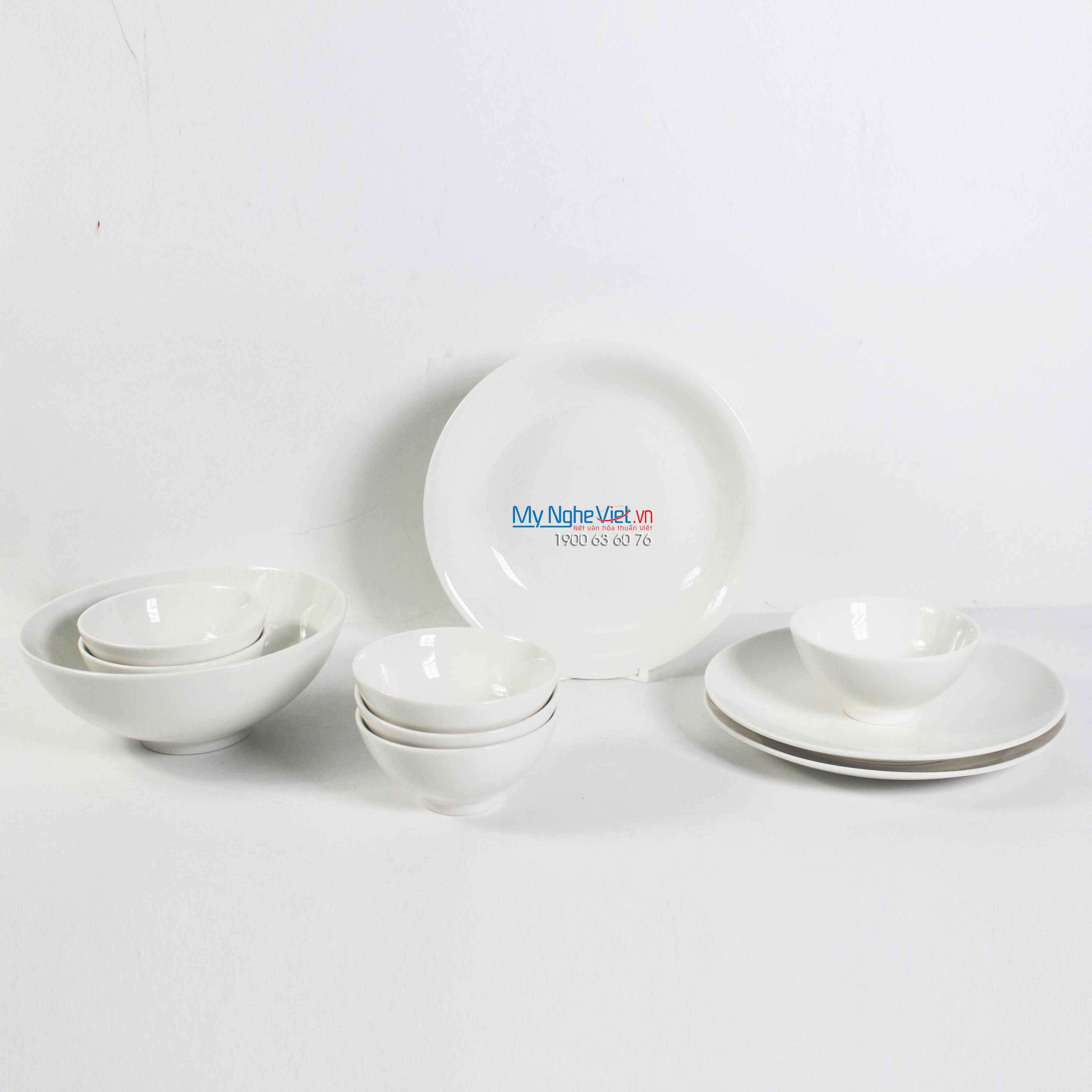 Bộ chén dĩa bàn ăn – Daisy – Trắng ngà - MNV - 461028000