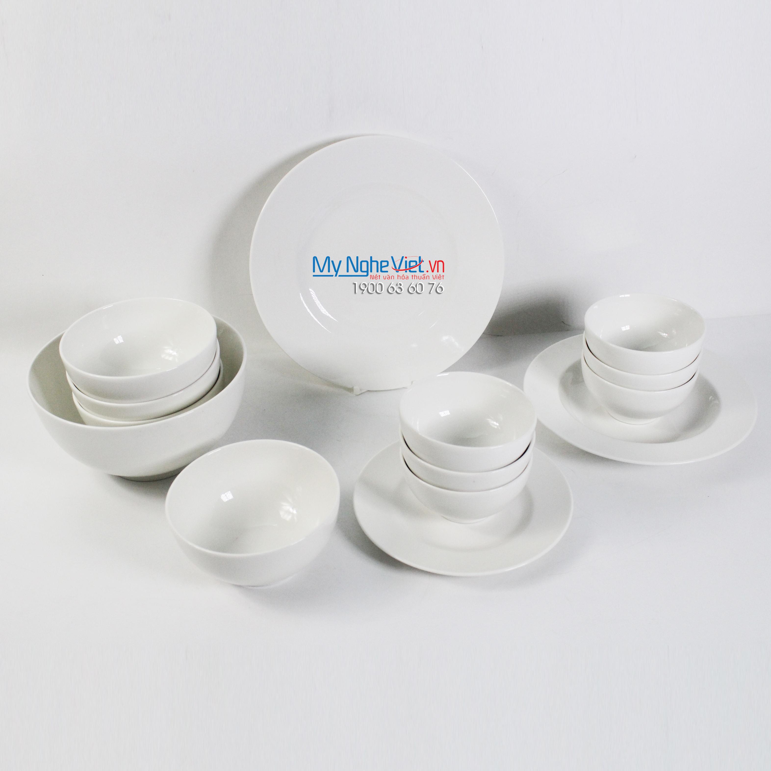 Bộ chén dĩa bàn ăn – Camellia – Trắng ngà - MNV-481428000