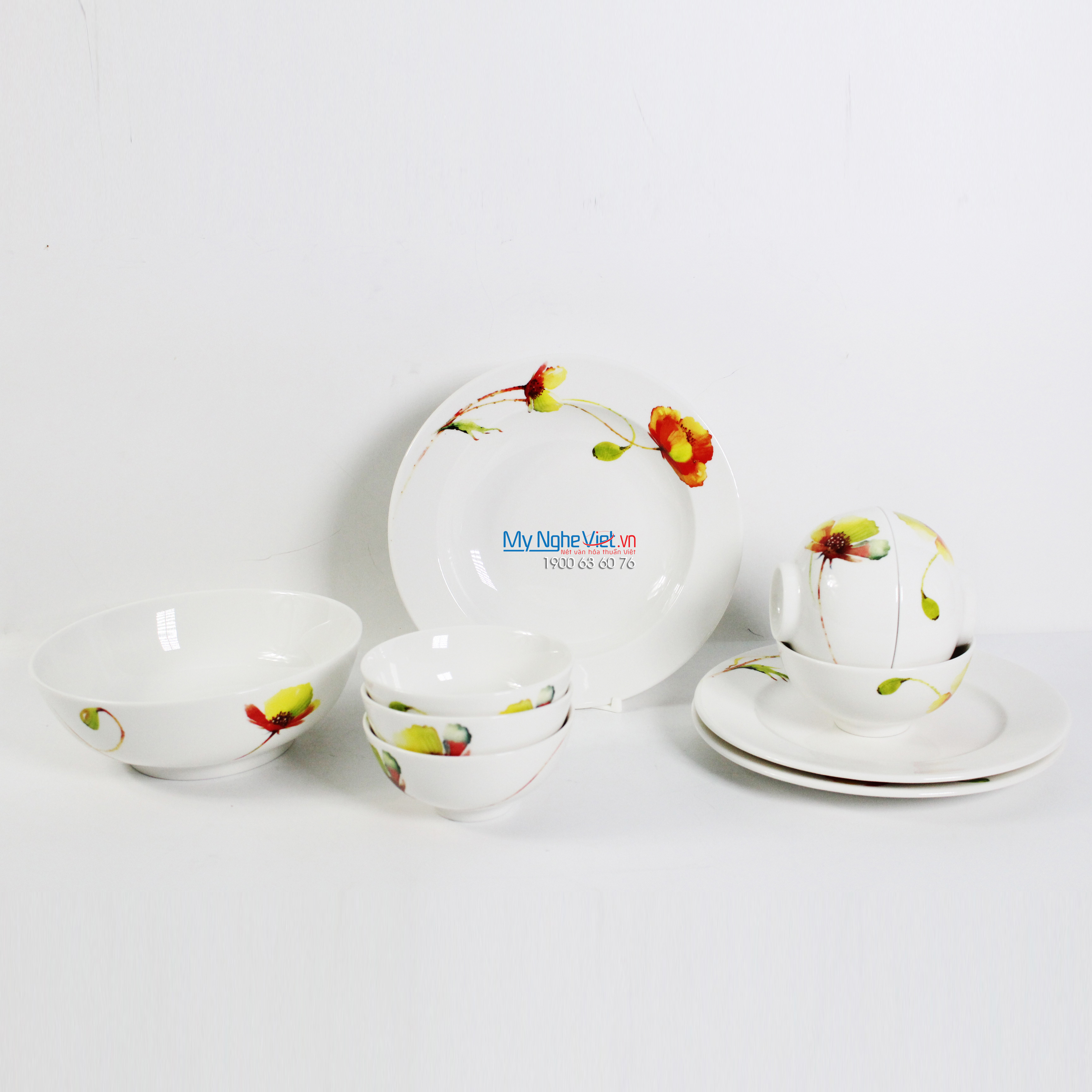 Bộ chén dĩa bàn ăn – Jasmine – Anh túc - MNV-471028427