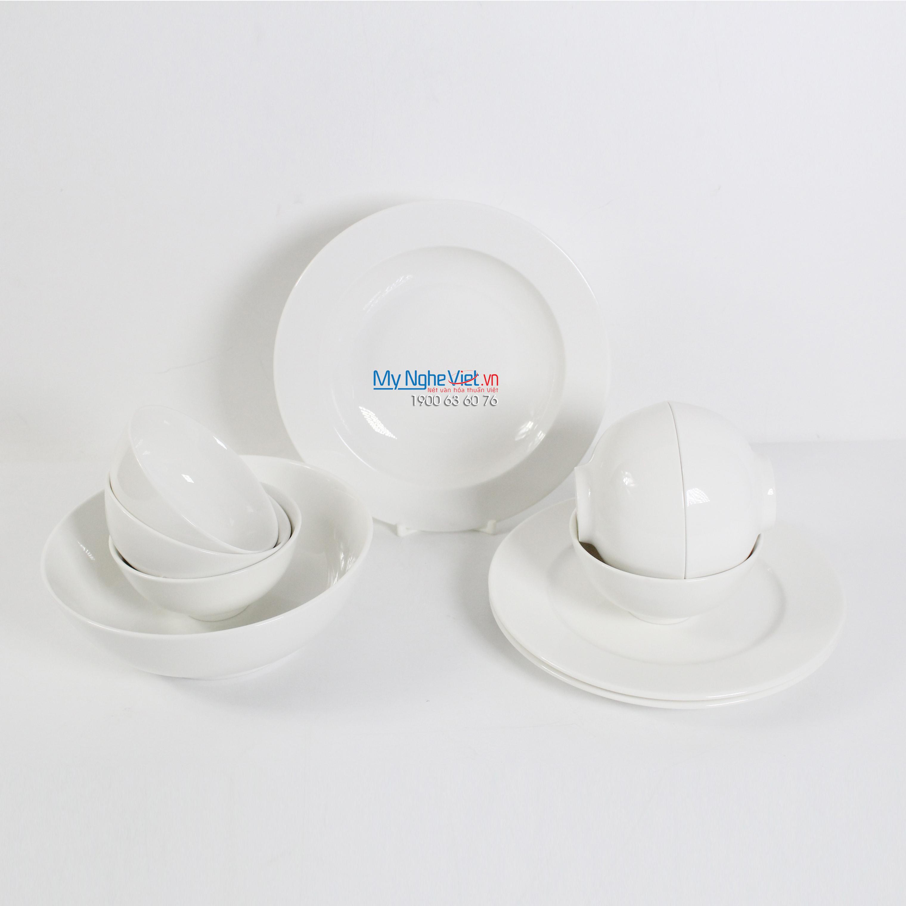 Bộ chén dĩa bàn ăn – Jasmine – Trắng ngà - MNV-471028000