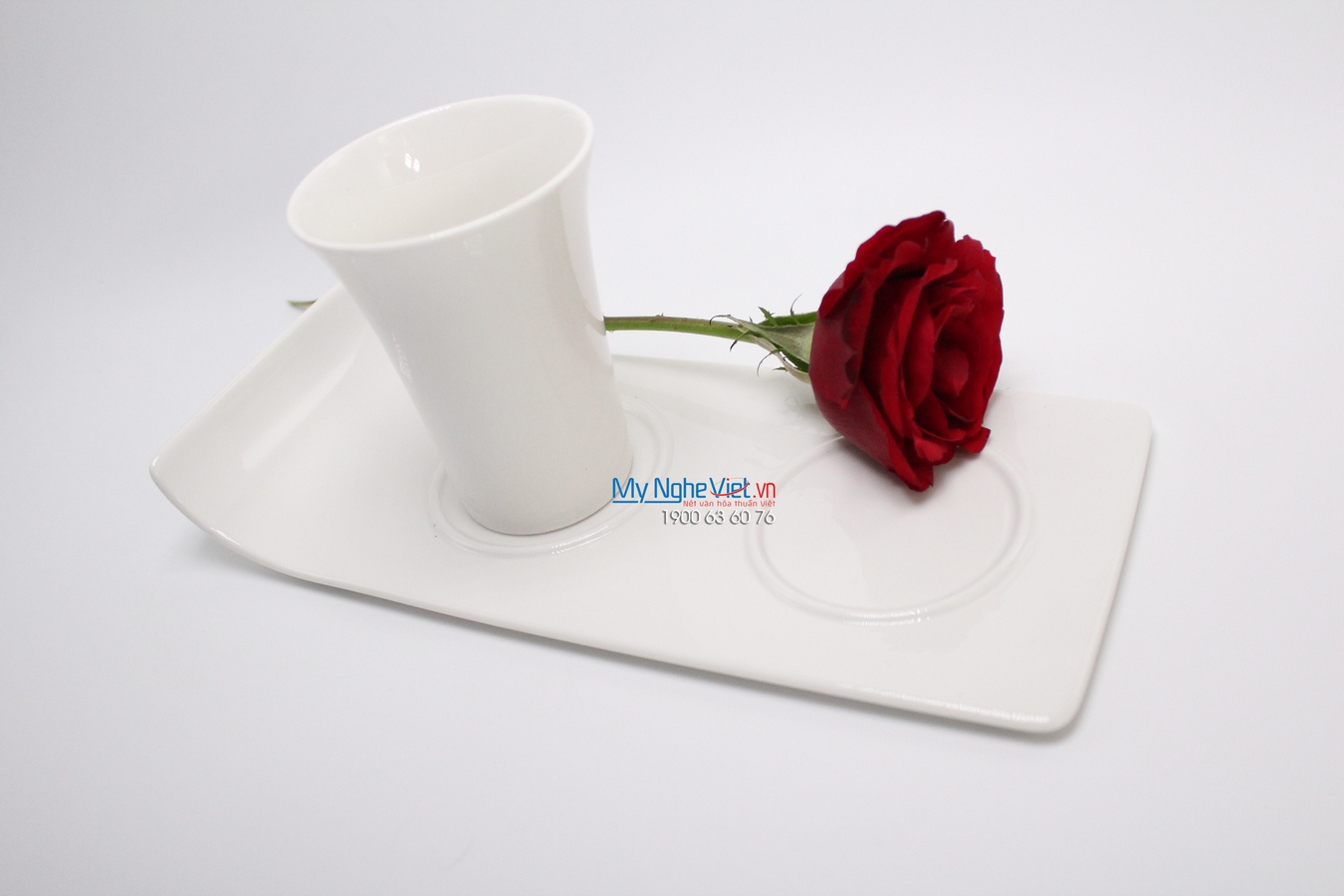 Khay lót chum 25 x 11 cm trắng ngà - MNV - 312531000