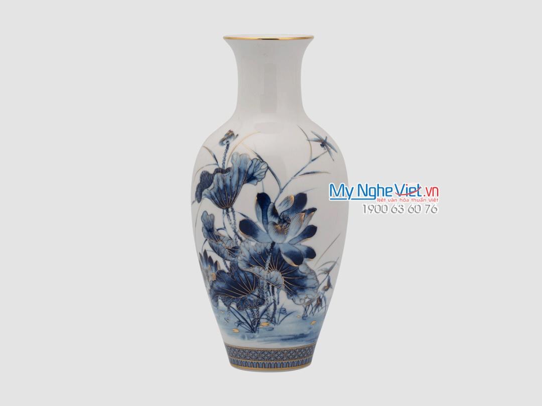 Bình hoa trang trí Sen vàng - MNV - 113054345
