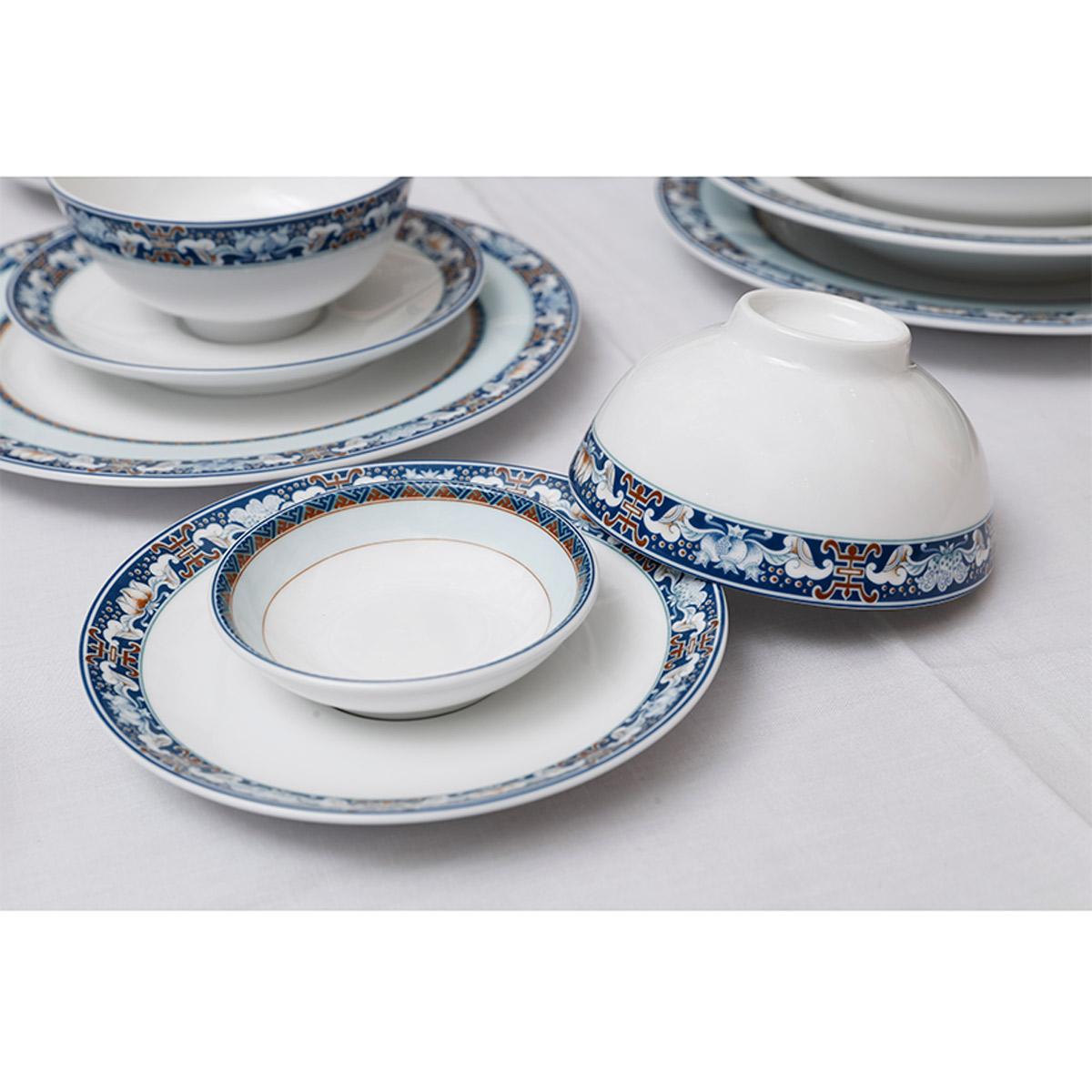Bộ chén dĩa bàn ăn 6 người 24 sản phẩm phúc lộc thọ - MNV - 24139