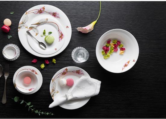 Bộ chén dĩa bàn ăn – Tulip – Loa kèn hồng - MNV-141428430