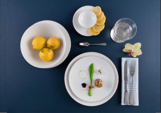 Bộ chén dĩa bàn ăn – Daisy – Viền chỉ vàng - MNV-461028014