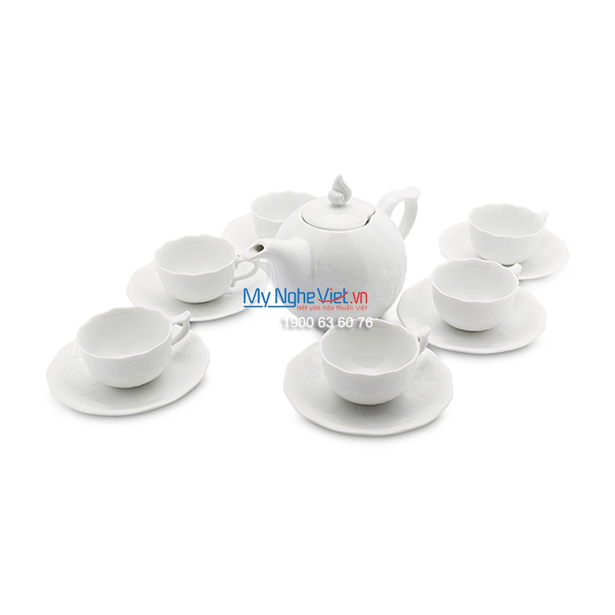Bộ trà 0.7L – SEN – Trắng - MNV-01703000003